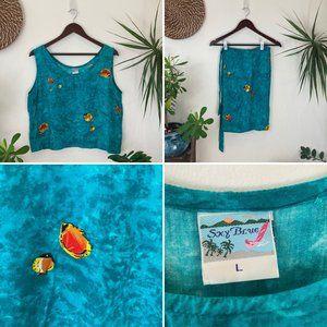 Vintage Tropical Sarong Set